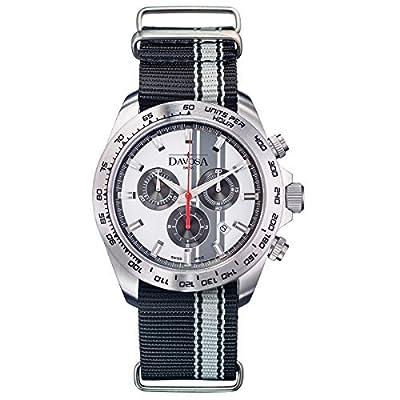 Davosa Swiss Speedline TX 16248815 Analog Men Wrist Watch Black Nylon, Silver