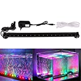 Xcellent Global Multi Farben 18 LED Aquarium Aquariumlicht RGB Luftblasen