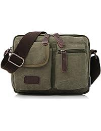 Outreo Bolsos Hombre Bandolera Vintage Messenger Bag Bolsas de Viaje Pequeñas Marca colegio Bolso de Tela para Mujer Escolares Outdoor Sport Bolso