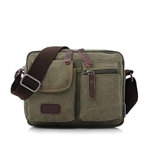 Outreo Umhängetasche Herren Kuriertasche Canvas Schultertasche Kleine Retro Messenger Taschen für Sporttasche Damen Freizeit Strandtasche Vintage