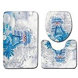 TianranRT 3pcs Rutschfeste Badematte Badezimmer Küche Teppich Fußmatten Dekor (H)