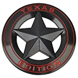 #7: Black : Mayitr Metal TEXAS EDITION Shield Star Emblem Badge Car Fender Side Tail Body Sticker For JEEP Wrangler Liberty Grand Cherokee