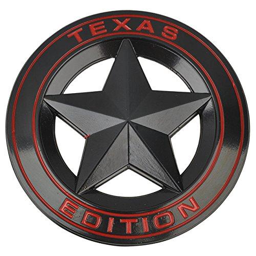 SPA Black : Mayitr Metal TEXAS EDITION Shield Star Emblem Badge Car Fender Side Tail Body Sticker For JEEP Wrangler Liberty Grand Cherokee