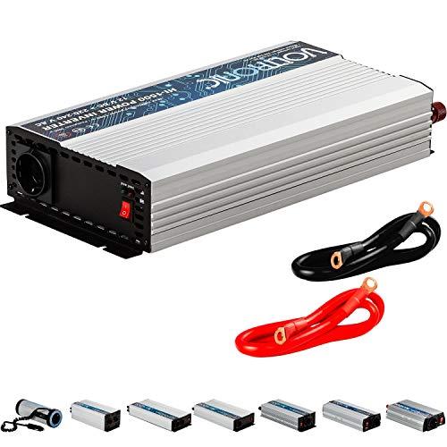 VOLTRONIC® MODIFIZIERTER Sinus Spannungswandler 1500W mit E-Kennzeichen, 12V auf 230V, 3 Jahre Garantie, Stromwandler Inverter Wechselrichter Auto PKW