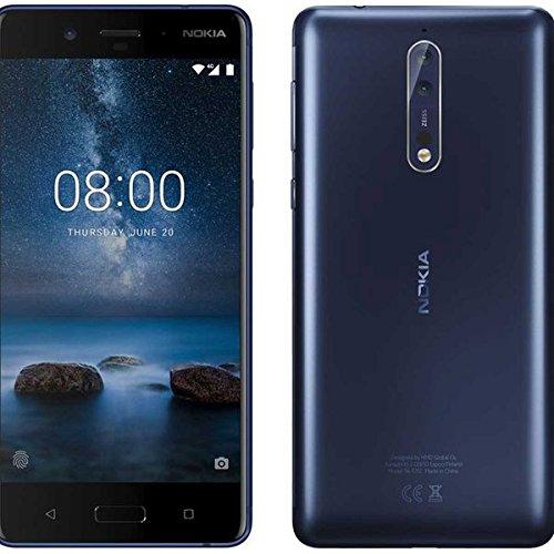 Nokia 8 Azul Dual SIM [Versión italiana: Podría presentar problemas de compatibilidad]
