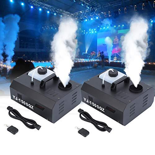 Ridgeyard 2 X 1500W DMX machine à brouillard vertical Machine à Fumée 2L avec télécommande pour Scène de mariage Disco DJ bar Party Spray jusqu'à 5m