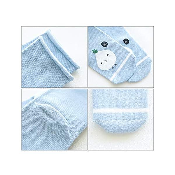 DEBAIJIA 3 Pares de Calcetines de Bebé Unisex Suave Elástico Calcetines Algodón Cálido Lindo Colorido Respirable… 2