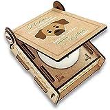 CANDLE in the BOX Trauerkerze Hund mit Spruch | Personalisierte Gedenkkerze mit Foto und mit Namen | Gedenklicht Hund für Zuhause mit Gravur (Rhodesian Ridgeback)
