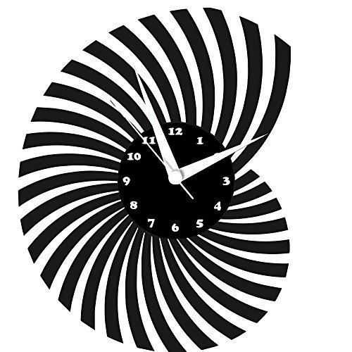 Wanduhr, Design Schallplattenuhr mit Quarzwerk und Ziffernblatt, Einzigartiges Geschenk, Made in Germany, Nautilus