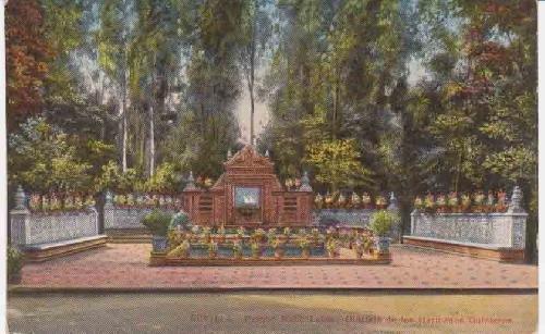 Antigua Postal - Old Postcard : SEVILLA - Parque María Luisa - Glorieta de los Hermanos Quinteros