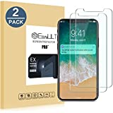 EasyULT Verre Trempé iPhone X[2-Pièces], iPhone X Verre Trempé Protection écran, iPhone X Vitre Film Glass Screen Protector(Compatible Fonction 3D Touch)