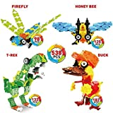 WEofferwhatYOUwant Dinosaurier & Co. 3D Puzzle Bausatz für Kinder ab 5 Jahre - FLATBLOCKS Level 2 - 538 Teile (DIY)