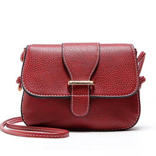 ESAILQ Femmes Porte-monnaie en cuir Satchel Cross Body Sac à bandoulière Messenger Bag
