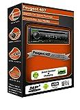 Peugeot 407stéréo de voiture radio, Kenwood CD lecteur MP3avec USB en façade aux in