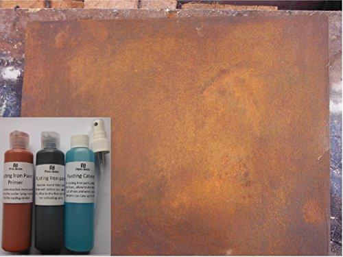 Oxidación hierro pintura, reactiva oxidación efecto PINTURA para artes, manualidades y decoración