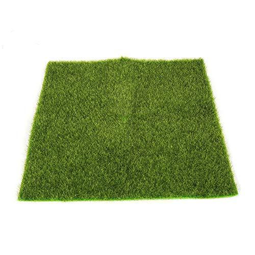 happy event Künstliche Faux | Garten Rasen Gras Rasen Moos Miniatur Handwerk | Puppenhaus Dekor (L) (Adidas Kinder Blume)