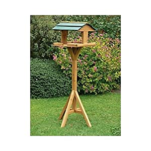 Green Jem Wooden Bird Table