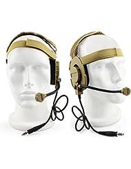 Al aire libre táctico de Airsoft Bowman Evo III de doble cara auricular con micrófono micrófono Worldshopping4U, DE