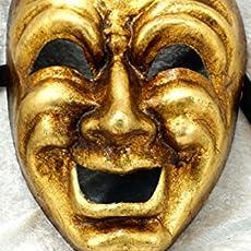 Bluemoon Venice - Mascara Veneciana - Volto Comedia Oro