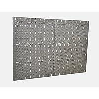 """Kreher Hakenwand, Schlüssel Metallwand""""HOOK"""". Werkzeugwand vom Maß ca. 80 x 58 cm inklusive 20 Metallhaken in 3 Längen"""