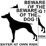 Aufkleber Sticker Beware of the Dog Vorsicht Achtung Warnung vor dem Hunde Hinweis (2)