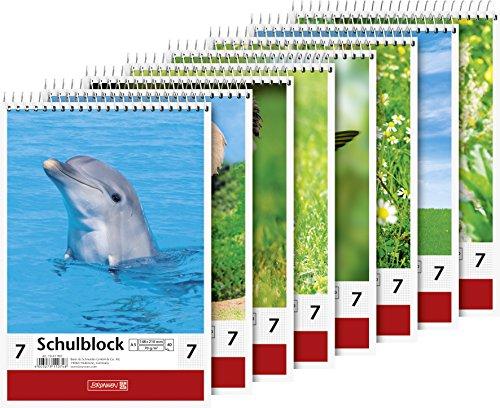 Baier & Schneider–Cuaderno de animales, espiral, 70g/m², A5, cuadriculado, 40hojas