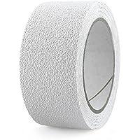 NAC Safety Cinta Antideslizante Resistente al Agua Aqua Slip – No Abrasiva, para baños, duchas, bañeras, tinas, cocinas y Todas Las áreas húmedas (2,5cm x 3m, Blanco)