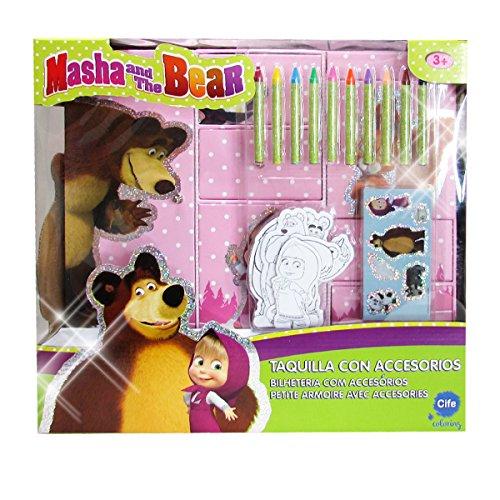 Masha und der Bär?Garderobenschrank 3[Glitter, Rosa (CIFE 40084) Preisvergleich