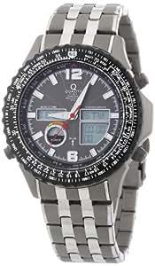 QT Quality Time Herren-Armbanduhr XL World Timer Analog - Digital Quarz Edelstahl QGS-11139-55M