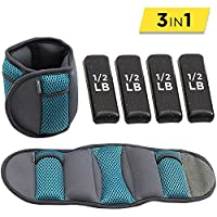 Empower Ankle Weights for Women, Wrist Weight, Adjustable Weights, Running, Walking, Exercise, Resistance Training, 5 lb Set, Teal