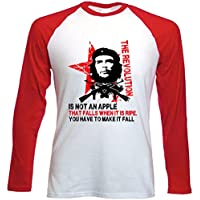 Teesquare1st Men's CHE GUEVARA AN APPLE QUOTE Tshirt con maniche