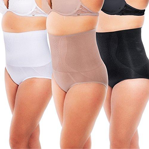 Damen Shapewear Miederpants strafft Bauch Tailie Po und Bein Miederhose Pigura02 Schwarz
