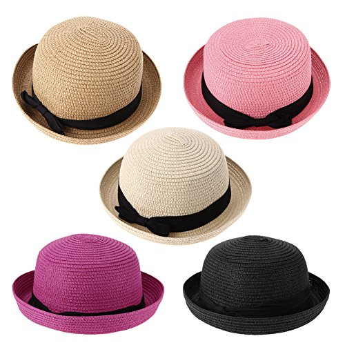 Everpert Summer Women Straw Knitting Sun Hats Travel Outdoor Fold Beach Hat