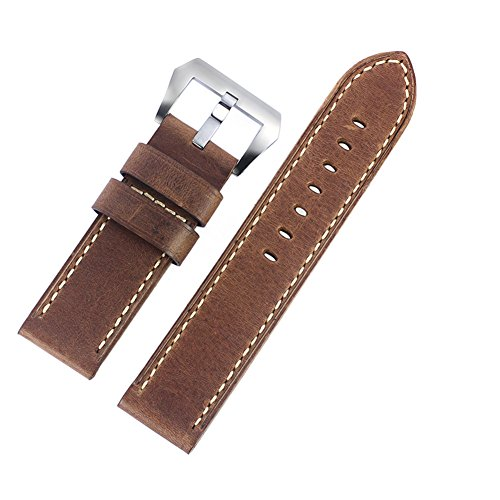 24mm-coffee-brown-luxury-distressed-nubuck-leather-watch-bands-thick-rugged-military-style
