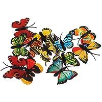 MagiDeal Lot de 12PCS Jouet de Simulation Papillon Multicolore en Plastique Jouet Enfant Cadeau Idéal
