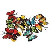 MagiDeal 12 Pezzi Simulazione Farfalla Figure Animale Giocattoli Bambini Regale Natale Plastica Multicolore