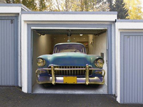 Preisvergleich Produktbild AD - Garagentor Fotoplane - Motiv Straßenkreuzer - Garagen Deko
