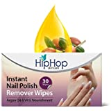 HipHop Instant Nail Polish Remover Wipes - Acetone & Acetate Free, 30 wipes (Pack of 2)