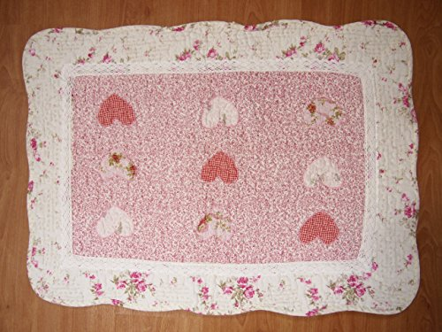 Felpudos de Baño San Valentín Corazón Vintage Lace Patchwork algodón acolchado dormitorio baño felpudo alfombra