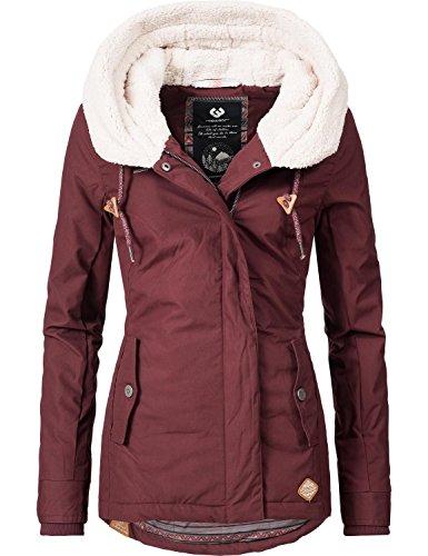 Ragwear Damen Mantel Wintermantel Winterparka YM-Monica (vegan hergestellt) Braun Gr. M