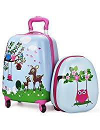iPlay iLearn - Equipaje infantil  rosa rosa carry - on