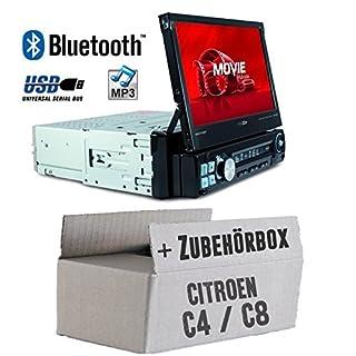Citroen C4 C8 - Autoradio Radio Caliber RMD574BT - Bluetooth | MP3 | USB | SD | 7' TFT - Einbauzubehör - Einbauset