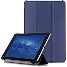 AVIDET Xiaomi Mi Pad 3 Funda Case, Ultra Delgada Tri-Fold Smart Case Cover PU Cuero Smart Cascara con Soporte para Xiaomi Mi Pad 3 (Azul)