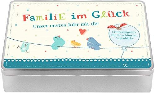 Aufbewahrungsbox - Familie im Glück - Unser erstes Jahr mit dir: Erinnerungsbox für die schönsten Augenblicke