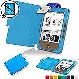 Forefront Cases® Tolino Page Shell Hülle Schutzhülle Tasche Bumper Folio Smart Case Cover Stand mit LED Licht - Leicht mit Rundum-Geräteschutz inkl. Eingabestift und Displayschutz (Hell Blau)