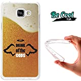 BeCool® Fun - Coque Etui Housse en GEL Flex Silicone TPU Samsung Galaxy A5 2016 , protège et s'adapte a la perfection a ton Smartphone et avec notre design exclusif.La boisson des dieux