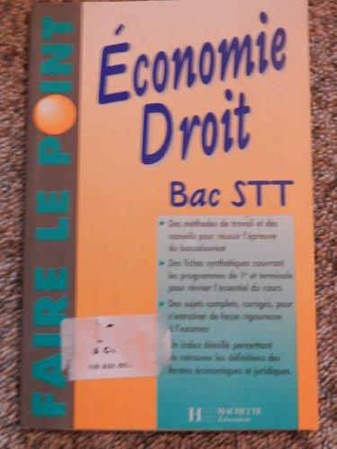 Économie, droit : Bac STT