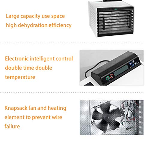 51sQthUoRCL. SS500  - LIXHGJ Food Dehydrator, Household Electric Dehumidifier 9 Layer Tray Constant Temperature Drying 560W Electric Dryer