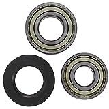 Spares2go cuscinetto tamburo & oil Seal kit per Hoover lavatrici (6205z-cuscinetti/6204Z)