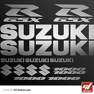 Aufkleber Suzuki GSX 1000–Silber–Brett XXL 17GSX R, GSXR, Sticker, selbstklebend, Aufkleber, gt-design